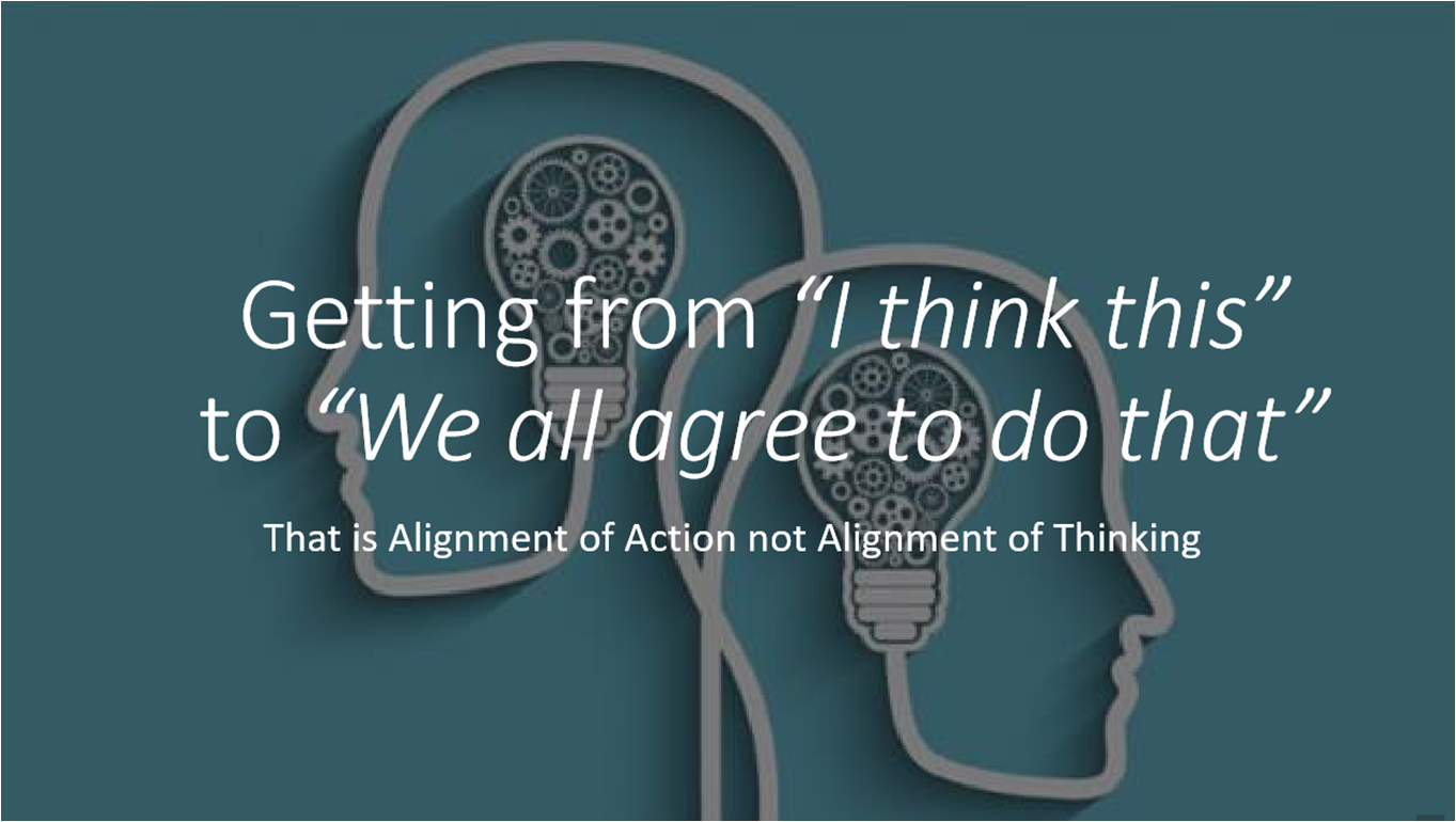 Most transformation failure is due to a lack of stakeholder alignment